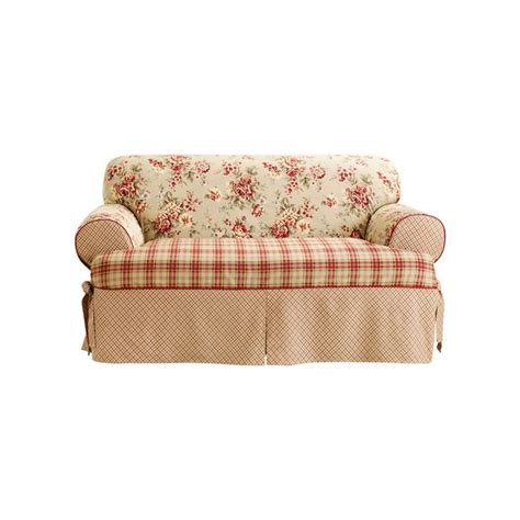 floral sofa slipcovers sure fit one t cushion sofa slipcover