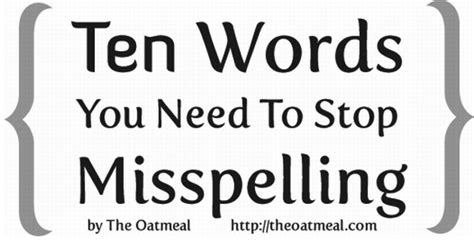 10 Words You Need To Quit Misspelling In Blogs by Preach This 10 Words You Need To Stop Others From
