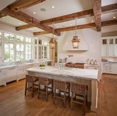 exposed ceiling beams in kitchen rattan bar stools home 1000 images about kitchens on pinterest rustic kitchen