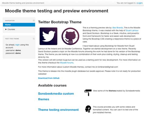 moodle theme version moodle bootstrap theme basbrands nl