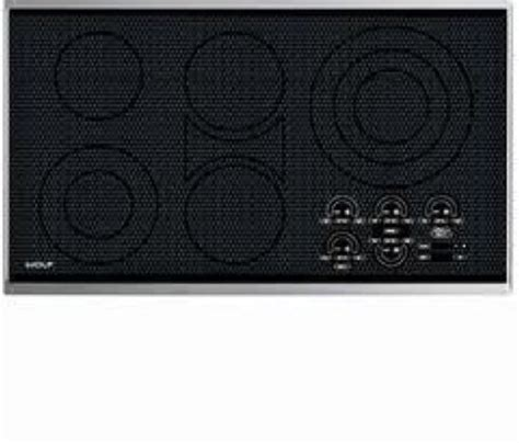 Wolf Electric Cooktop 36 wolf 36 quot smoothtop electric cooktop ct36es black ebay