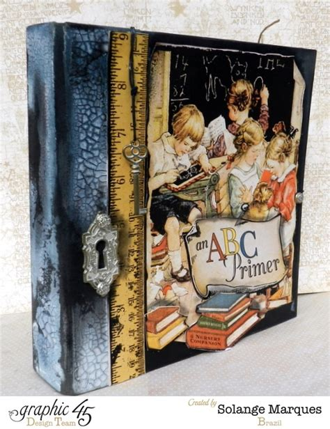 pin by solange claire on book cover ideas pinterest mixed media album using graphic 45 an abc primer