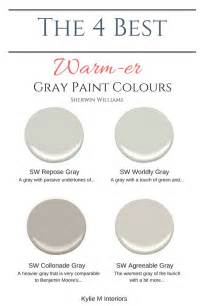 best greige paint colors the 4 best warm gray paint colours sherwin williams