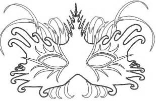 Brazil Carnival Mask Coloring Pages Sketch Page sketch template