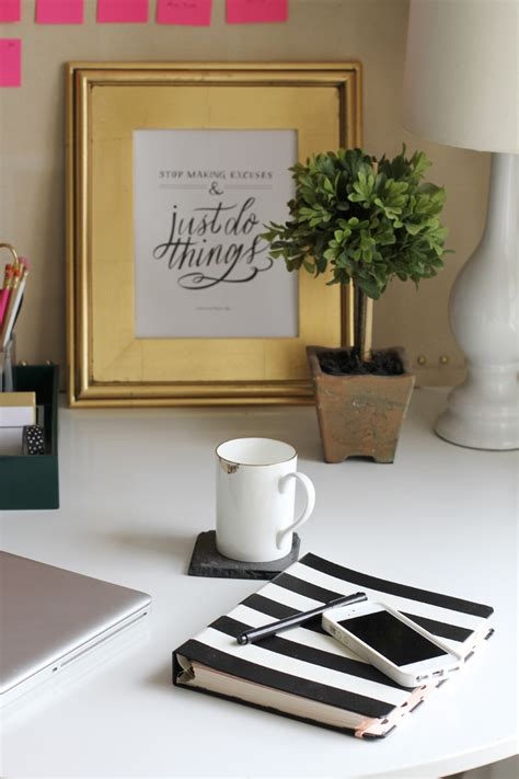 Essentials For A Home Office The Everygirl Office Desk Essentials