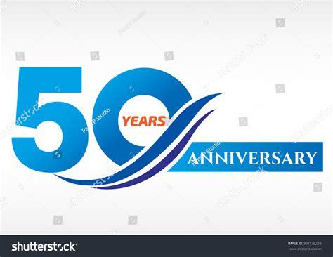 anniversary logo template 50 years anniversary template logo stock vector 308176223