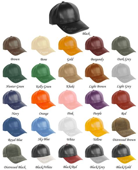 color cup genuine cowhide leather baseball cap 26 different colors