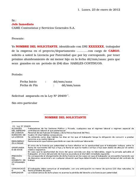permiso por paternidad 2016 mexico modelo de solicitud de licencia por paternidad doc