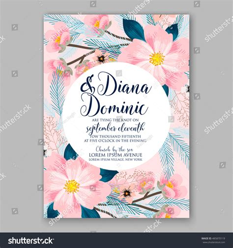 Wedding Invitation Letter Background Wedding Invitation Or Card With Tropical Floral Background Greeting Postcard In Grunge Retro