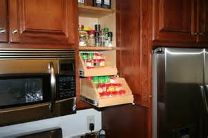 amazing upper cabinet storage solutions with wooden pull