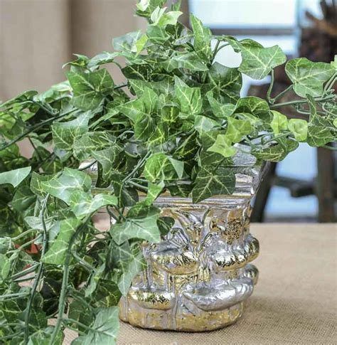 Silver and Gold Decorative Planter   Vase and Bowl Fillers