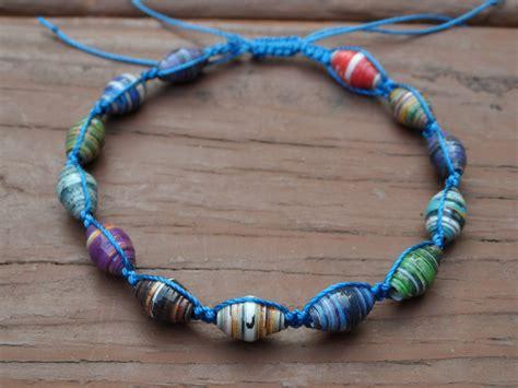 Paper Macrame - paper bead macrame bracelet by seaturtle2112 on deviantart