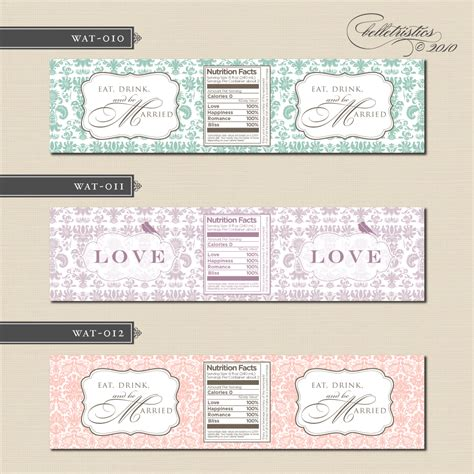 design bottle label online free downloadable wedding water bottle labels search