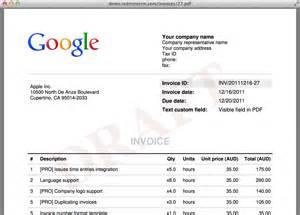 Screenshots invoices invoice