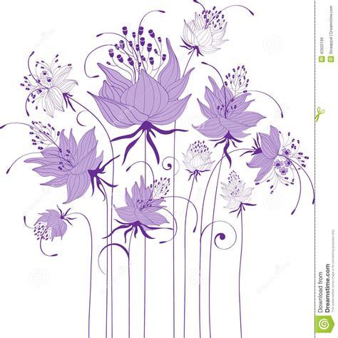 clipart fiori stilizzati progettazione floreale fiori stilizzati illustrazione