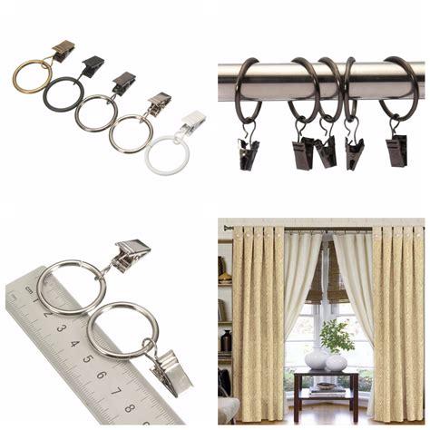 40pcs Metal Window Bathroom Curtain Clips Rings Pole Rod