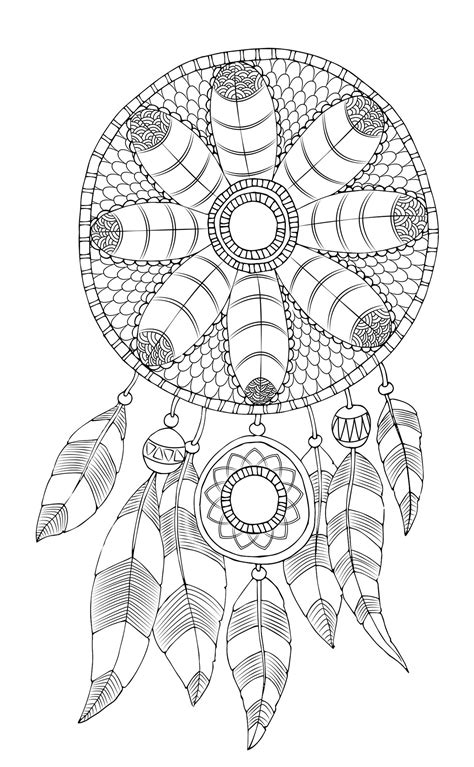 free coloring pages dream catcher free adult coloring page dreamcatcher dreamcatcher