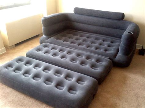 blow up sofa bed inflatable pull out sofa dudeiwantthat com