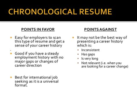 most widely accepted resume format resume writing presentation