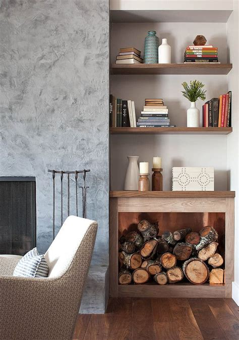 17 best ideas about indoor firewood storage on