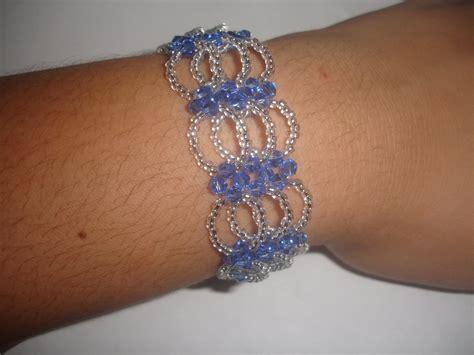bisuteria con hilo tejido y cristal pulseras de cristal swarovski bs 1 090 00 en mercado libre