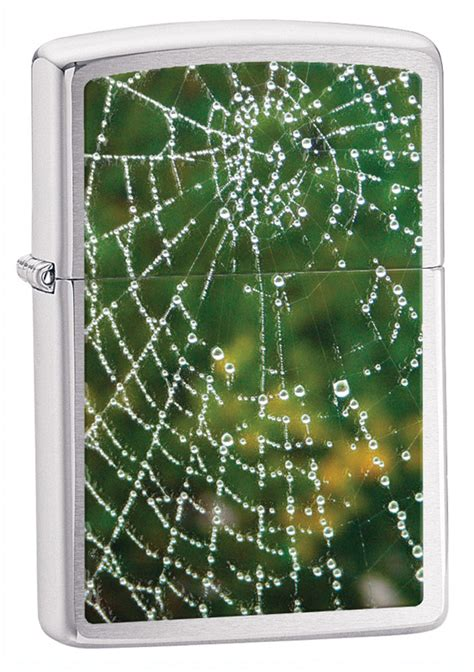 Zippo Web And Spider zippo spider web drops brushed chrome lighter