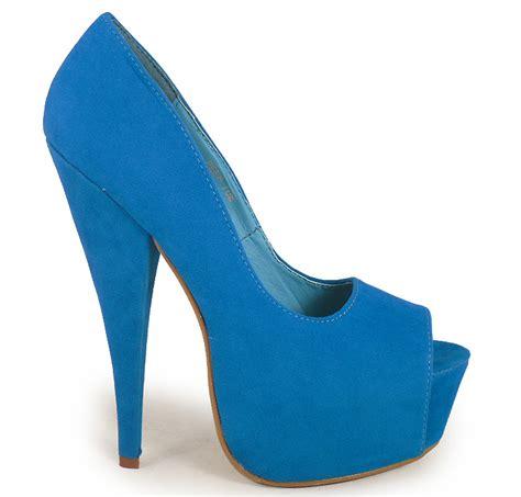 turquoise high heels shoes womens turquoise peeptoe high heel shoes siz 3 8 ebay