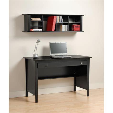 Black Wall Desk by Prepac Wall Mounted Desk Hutch In Black Bhd 1348 The
