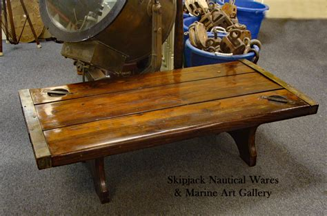 wwii liberty ship hatch cover coffee table skipjack