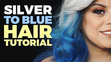arctic fox silver hair dye how to ombre silver to blue hair tutorial arctic fox