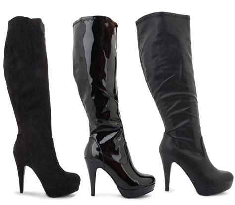 calf high heels new womens mid knee high calf stiletto high heels