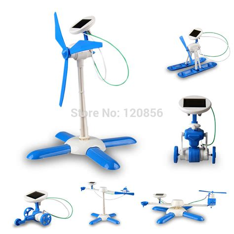 6 In 1 New Solar Educational Diy new 6 in 1 diy solar kit robot windmill plane car educational solar power kits novelty solar