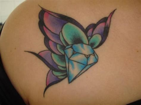 diamond with wings tattoo designs 29 sparkling designs