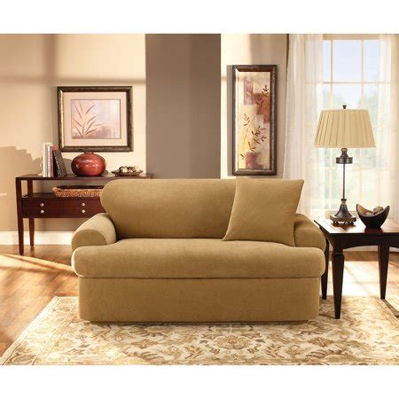 Sure Fit Stretch Sofa Slipcovers by Sure Fit Stretch Pique Universal T Cushion Sofa Slipcover