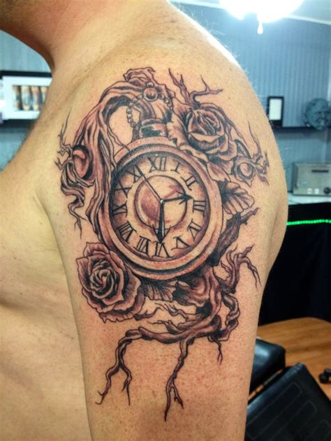 time tattoo clock stuff i like time tattoos
