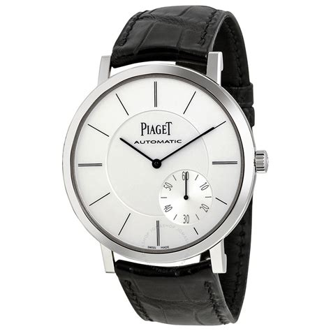piaget altiplano automatic silver black leather s