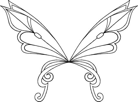 winx club fairy wings coloring pages sketch coloring page