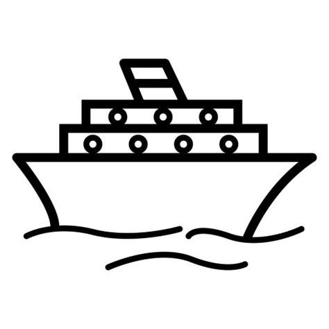 silueta de barcos para colorear barco para pintar on line