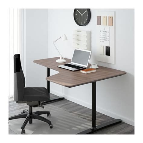 right corner computer desk bekant corner desk right gray black 63x43 1 4 quot ikea