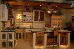 Log Kitchen Cabinets Log Cabin Kitchens