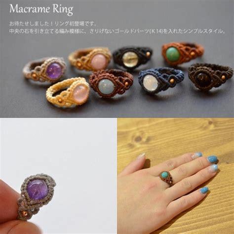Macrame Ring Tutorial - diy 鉸 鉷 鋠 錥鋠 鄕鉷鋓 鉷錡鉑 鋓鉷鋠