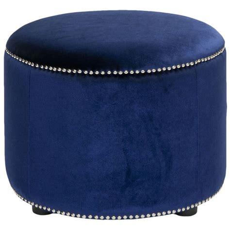 blue velvet ottoman safavieh florentine storage royal blue velvet round ottoman