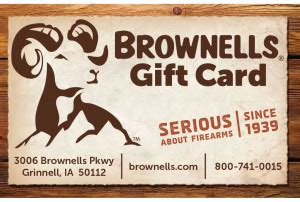 Brownells Gift Card - last minute gift ideas