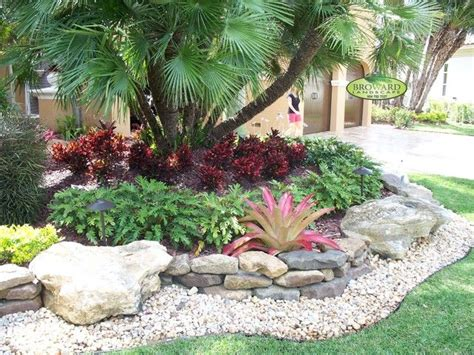 Tropical Rock Garden Garden Tropical Landscape Small Front Yard With Green House Design Ideas Landscaping Front Yard