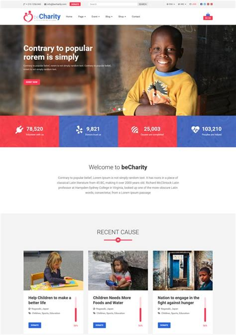 bootstrap templates for ngo 50 best ngo charity website templates free premium