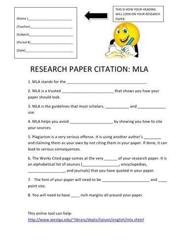 writing a research paper in mla format research paper in text citation exle xyz