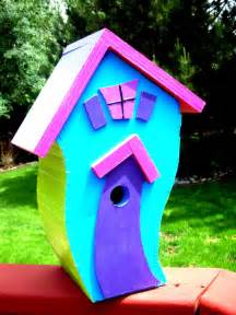 colorful bird houses designs by c d childs colorful and wonderful bird houses
