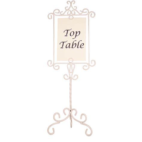 ivory metal vintage swirl wedding table number holder