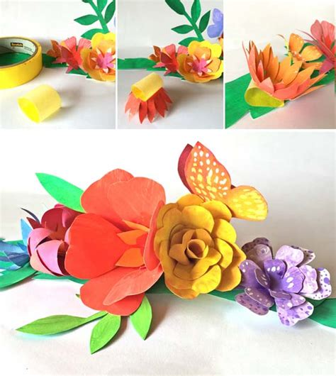How To Make A Flower Crown With Paper - how to make a paper flower crown for cinco de mayo