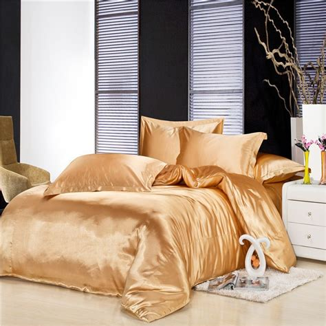 gold silk comforter gold duvet cover promotion shop for promotional gold duvet